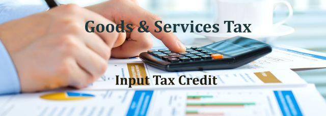 GST Input tax credit