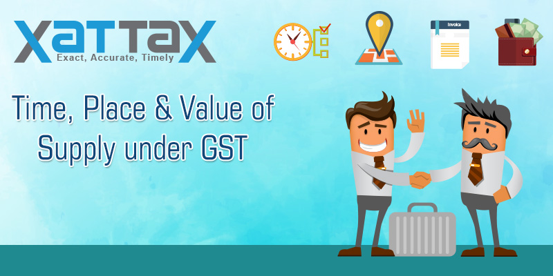time place and value of supply under GST
